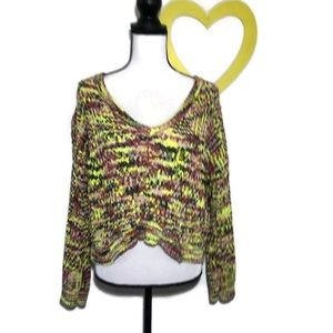 Poof Yellow Crop Super Soft Sweater NWOT